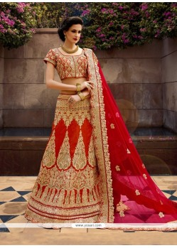 Arresting A Line Lehenga Choli For Bridal