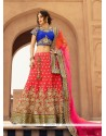 Chic Rose Pink Designer A Line Lehenga Choli