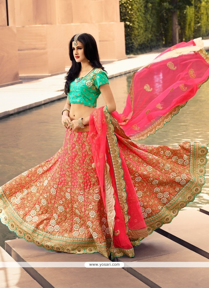 Bewildering Art Silk Designer A Line Lehenga Choli