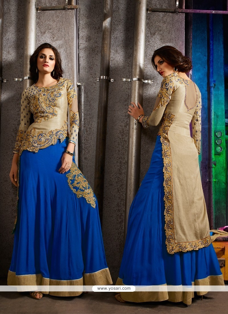 Delectable Embroidered Work Designer A Line Lehenga Choli