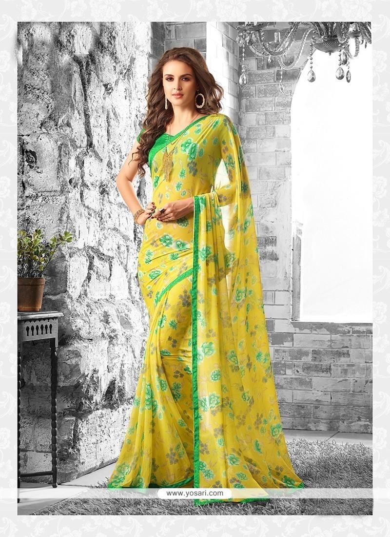 Ideal Yellow Casual Saree