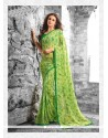Princely Georgette Green Print Work Casual Saree