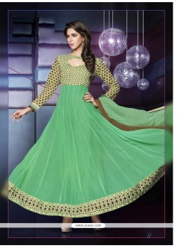 Sea Green Embroidery Anarkali Suit