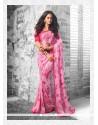 Print Georgette Casual Saree In Pink