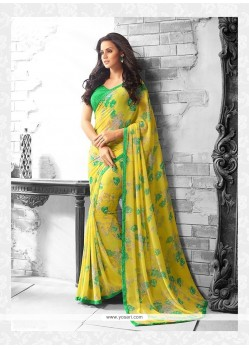 Competent Georgette Yellow Casual Saree