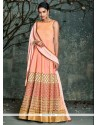 Beauteous Peach Silk Anarkali Salwar Kameez