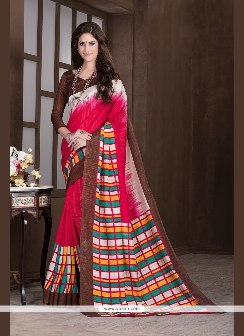 Remarkable Handloom Silk Printed Saree