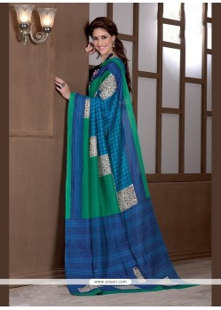 Prepossessing Handloom Silk Print Work Printed Saree