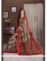 Gripping Handloom Silk Multi Colour Printed Saree