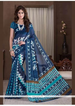 Classical Multi Colour Print Work Printed Saree