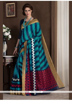 Regal Multi Colour Print Work Printed Saree
