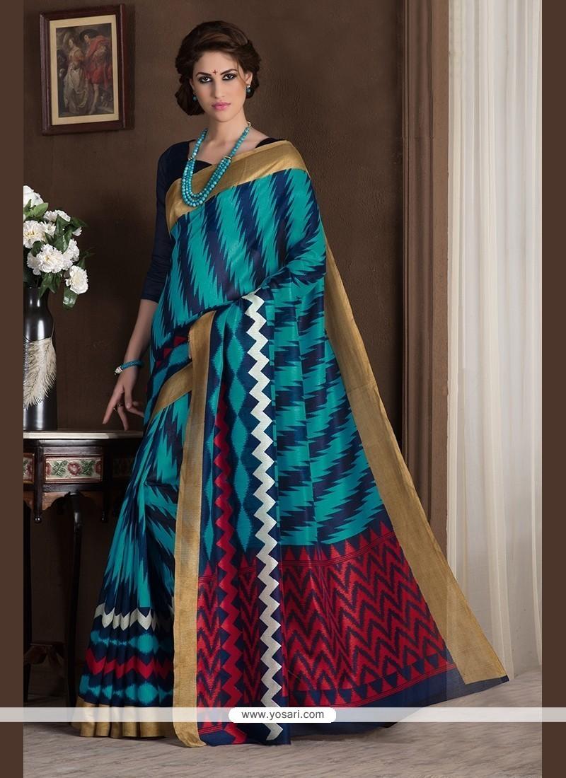 Regal Multi Colour Print Work Printed Saree