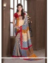 Graceful Print Work Multi Colour Printed Saree