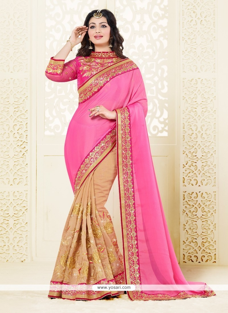 Ayesha Takia Pink Classic Designer Saree