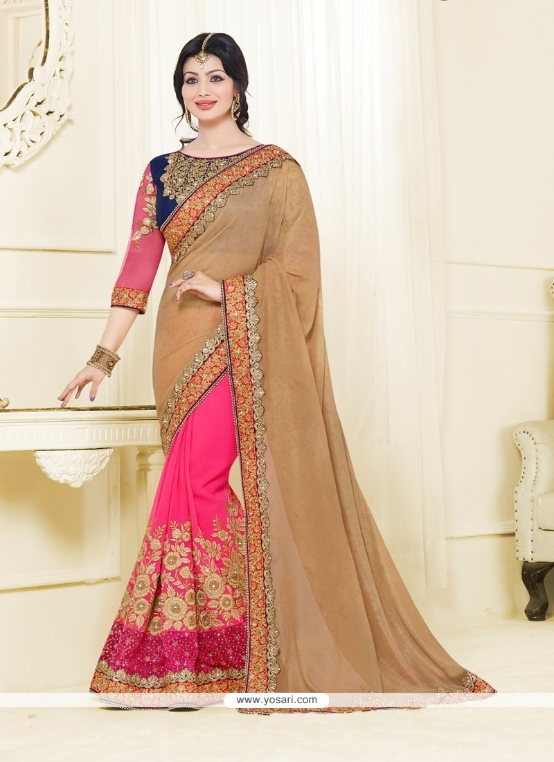 Ayesha Takia Hot Pink Classic Designer Saree