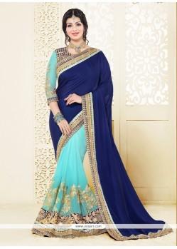 Ayesha Takia Blue Classic Designer Saree