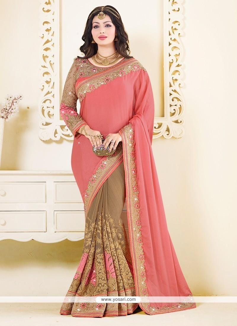 Ayesha Takia Beige Classic Designer Saree