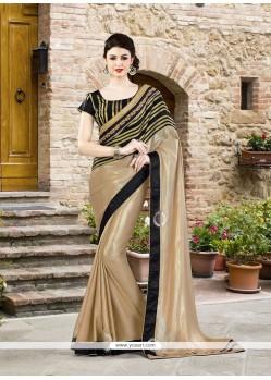 Outstanding Jacquard Silk Embroidered Work Designer Saree