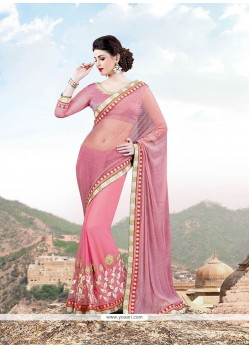 Savory Embroidered Work Designer Saree