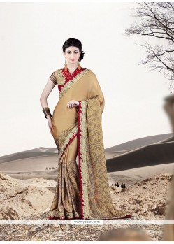 Voluptuous Embroidered Work Georgette Designer Saree