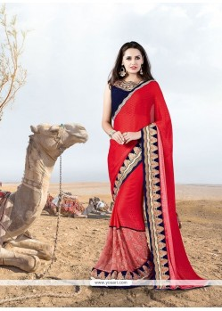 Beguiling Patch Border Work Designer Saree