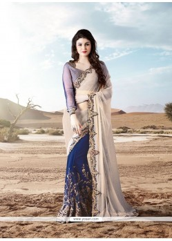 Piquant Patch Border Work Designer Saree