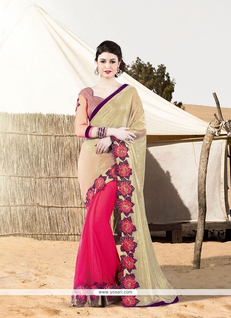 Modern Embroidered Work Designer Saree