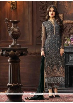 Beautiful Georgette Black Pant Style Suit