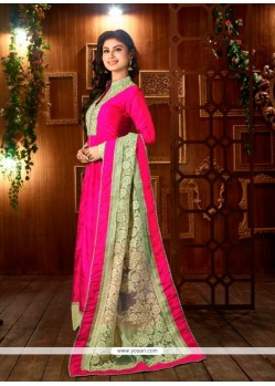 Lovely Hot Pink Designer Suit