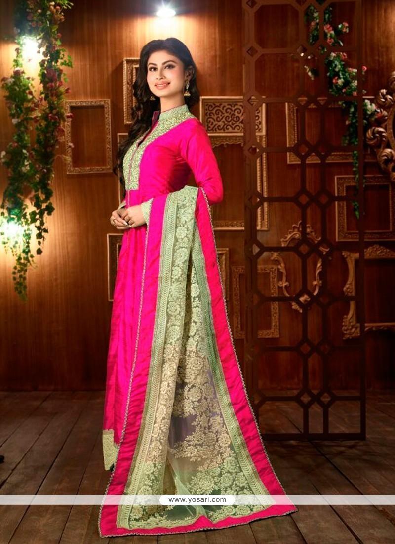 Lovely Hot Pink Designer Suit