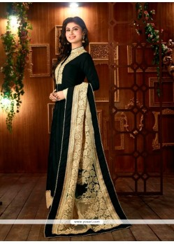 Desirable Black Designer Suit