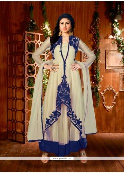 Versatile Embroidered Work Beige Designer Suit