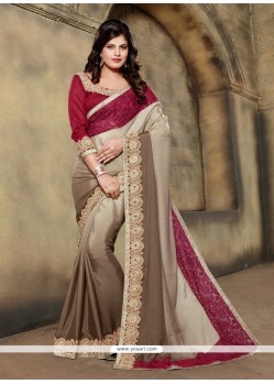 Miraculous Georgette Patch Border Work Classic Designer Saree