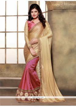 Bedazzling Lycra Patch Border Work Classic Designer Saree