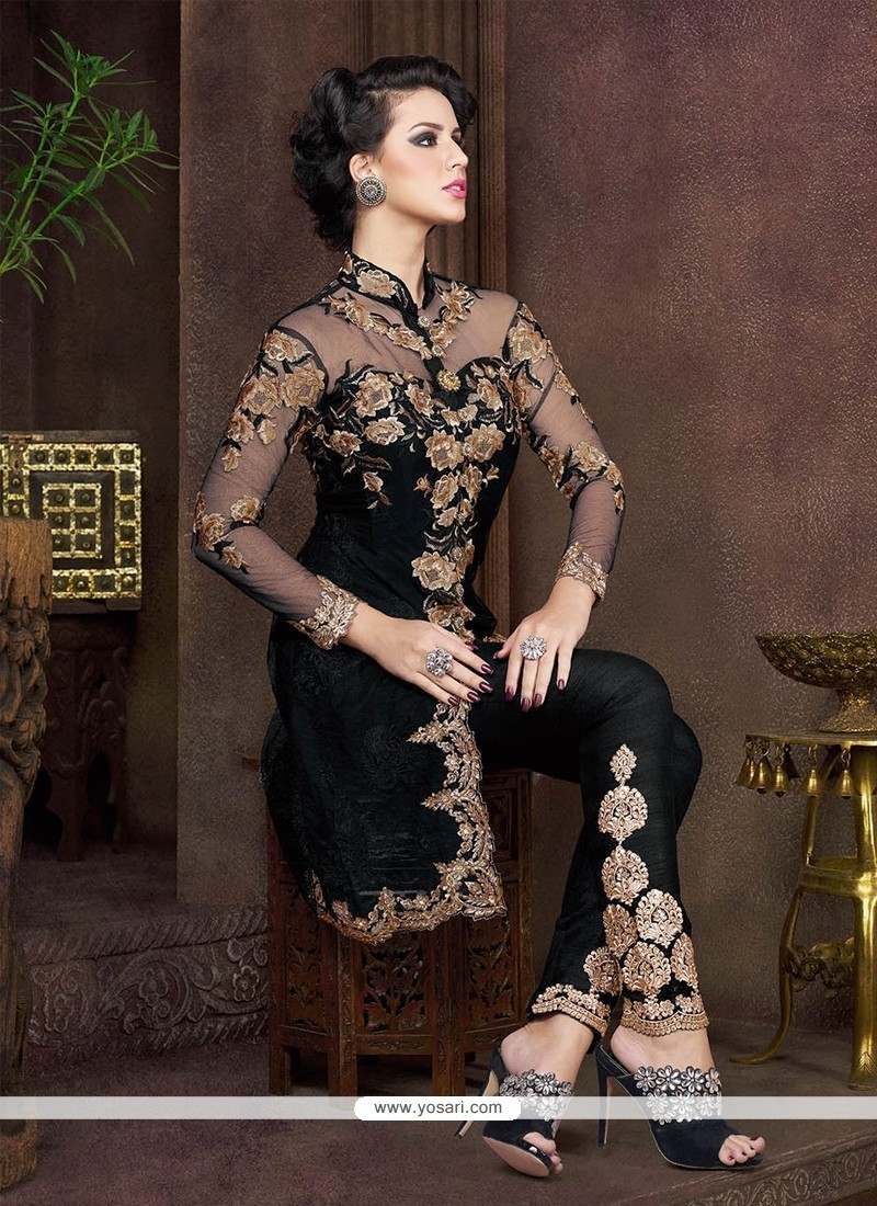Glorious Embroidered Work Pant Style Suit