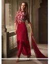 Groovy Resham Work Maroon Churidar Designer Suit