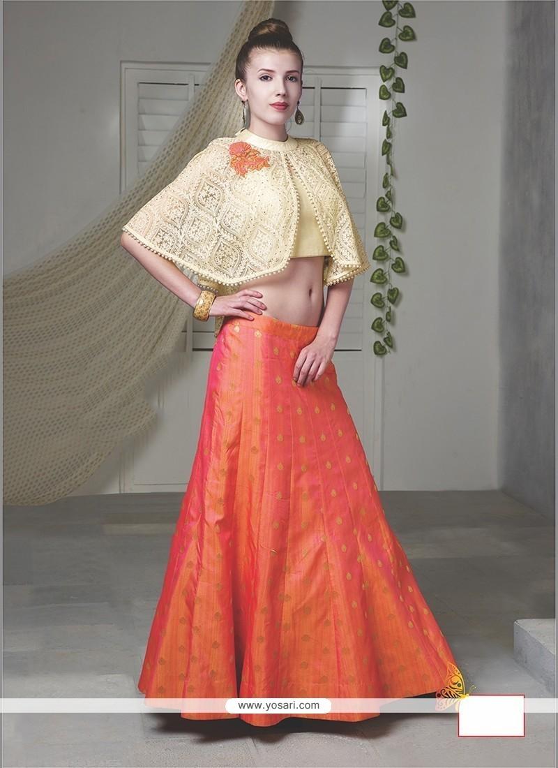 Baronial Raw Silk Embroidered Work Designer Lehenga Choli