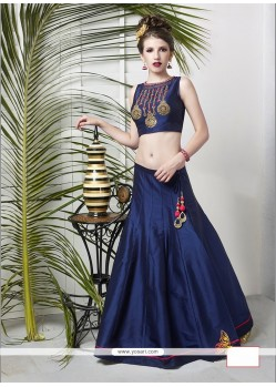Gorgonize Tussar Silk Embroidered Work Designer Lehenga Choli