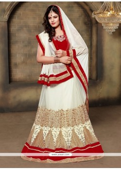 Masterly Patch Border Work A Line Lehenga Choli