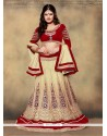 Spectacular Fancy Fabric Patch Border Work A Line Lehenga Choli