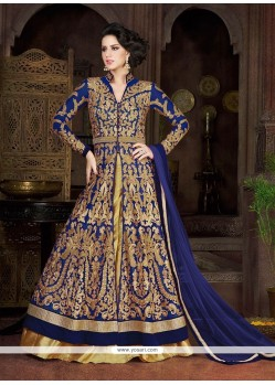Beauteous Resham Work Blue A Line Lehenga Choli