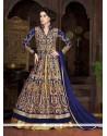 Beauteous Resham Work Blue A Line Lehenga Choli