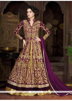 Marvelous Net Resham Work A Line Lehenga Choli