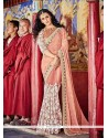 Pink Patch Border Work Georgette Classic Saree