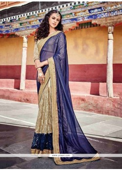 Ideal Beige Designer Saree