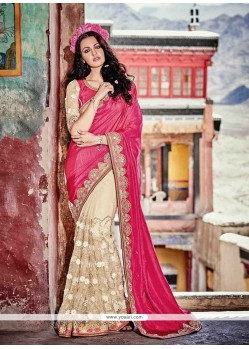 Grandiose Beige Contemporary Saree
