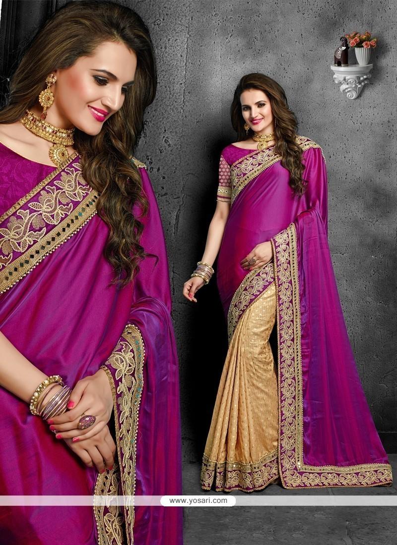Sensational Classic Designer Saree For Mehndi