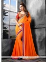 Breathtaking Bamber Georgette Designer Saree