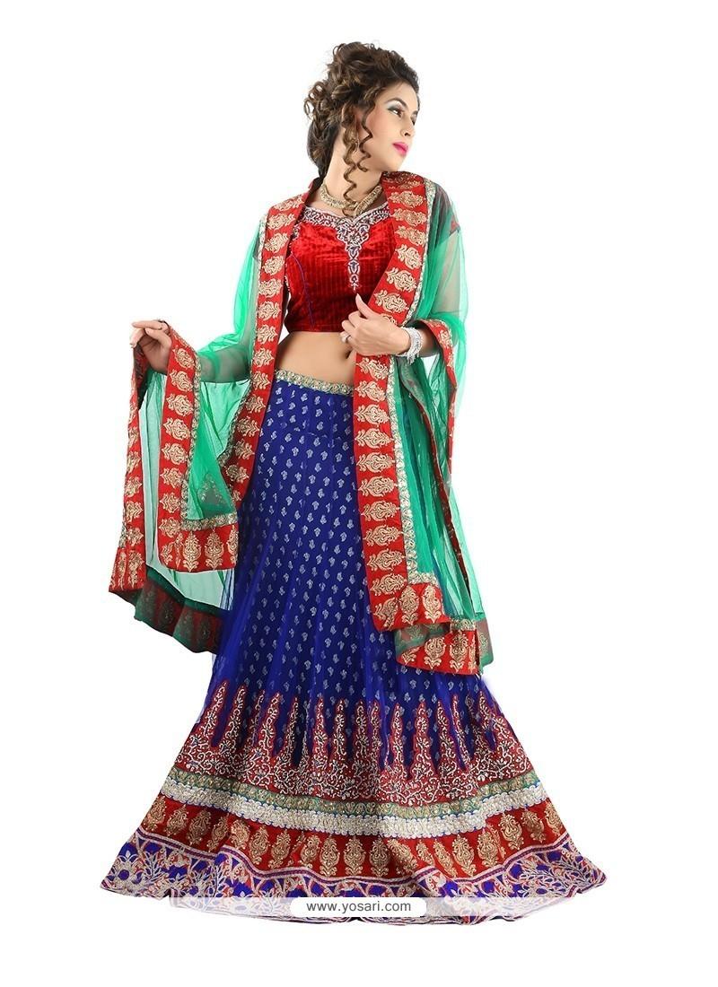 Prime Blue Designer Lehenga Choli
