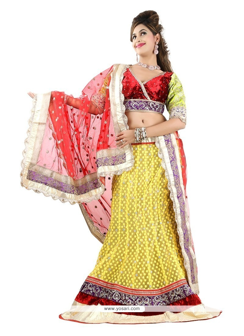 Gratifying Yellow Designer Lehenga Choli